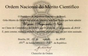 2002 - Ordem Nacional do Mérito Científico