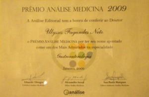 Prêmio ANÁLISE MEDICINA de destaque na Especialidade na Gastroenterologia, 2009
