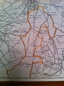 Figura 7- Mapa mais detalhado das terras dos Fagundes.