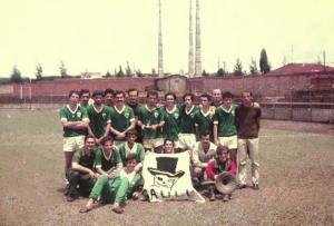Figura 20- Time de futebol de campo campeão da INTERMED 1969.