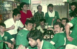 Figura 23- Celebração pela vitória da competição geral da INTERMED de Botucatu 1969.