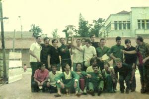Figura 25- Festa de comemoração da vitória da INTERMED de Botucatu 1969 na nossa Atlética.