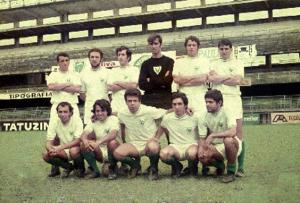 Figura 27- Time de futebol que disputou a INTERMED de Santos 1970. Estou no centro abaixado.