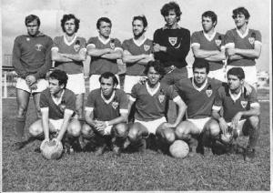 Figura 32- Time de futebol campeão da FUPE de 1970. Estou agachado o segundo da esquerda para a direita.