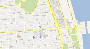 Figura 11- Localização do Hotel Diplomat tomando-se como referência a Calle Florida.