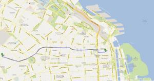 Figura 12- Trajeto a ser percorrido desde a nossa casa até o centro comercial de Buenos-Aires representado pela Calle Florida.