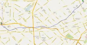 Figura 13-Trajeto a ser percorrido desde a nossa casa até o Policlínico Alejandro Posadas, em Haedo, Província de Buenos-Aires.