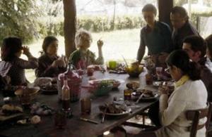 """Figura 9- Desfrutando com os amigos de la Plata um """"Asado"""" na casa quinta do sogro de Cueto, o advogado Dr. Carrera."""