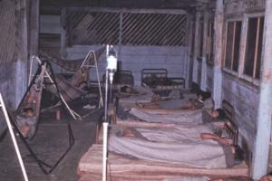 Figura 9- Vista geral da enfermaria improvisada para atender os casos de gripe mais graves.