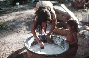 Figura 25- Após a evaporação da água o polvilho está pronto para ser armazenado e utilizado quando necessário para a feitura do beiju.