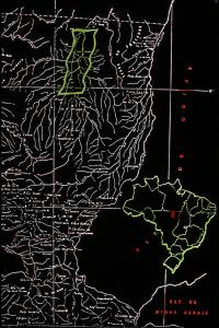 Figura 8- Mapa do Brasil com detalhe da localização do PIX.