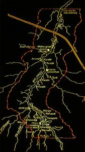Figura 9- Mapa detalhado do PIX e suas principais aldeias.