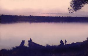 Figura 12- Uma visão do rio Xingu ao cair da tarde em 1971.