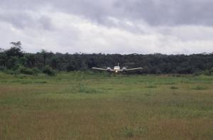 Figura 15- Vista aérea do campo de pouso em 1990.
