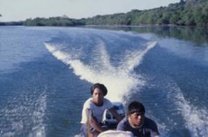 Figura 23- Uma visão do rio Xingu durante um deslocamento da equipe de saúde por via fluvial.