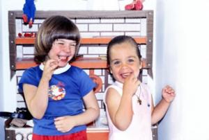Figura 19- Juliana e sua grande amiga Ciara, filha de um casal de italianos.