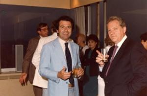 Figura 30- Dr. Silverberg e eu muitos anos depois, em 1985, em um Congresso da nossa especialidade em Bruxelas, Bélgica. A amizade se tornou sólida e ele algumas vezes esteve aqui no Brasil a meu convite.
