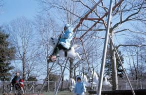 Figura 11- Juliana e Marina se divertindo em um fim de semana no playground do Eisenhower Park.