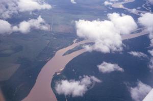 Figura 3 – Vista aérea dos formadores do rio Xingu.