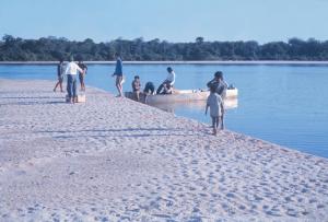Figura 4- Época de pleno verão, as praias totalmente formadas, momento propício para os tracajás desovarem.