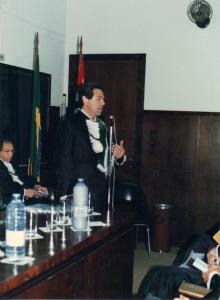 Figura 11- Meu discurso de posse como Professor Titular da Escola Paulista de Medicina.