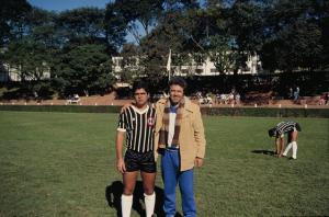 Figura 14- Uly na sua estreia no time que eu joguei durante 20 anos, o Corinthians, tradicional time participante do Campeonato Interno do Clube Atlético Indiano.