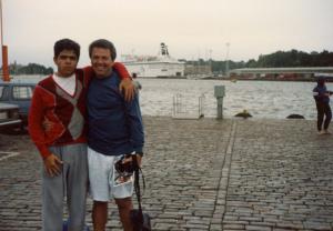 Figura 16- Uly e eu em Helsinki em 1989.