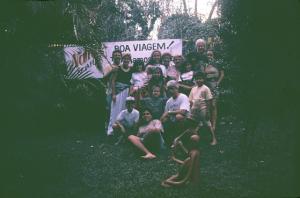 Figura 20- Mais uma festa de despedida da Juliana com muitos parentes presentes.