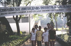 Figura 22- A equipe do Esporte Clube Pinheiros campeã Sul-Americana em Cuenca, Equador.