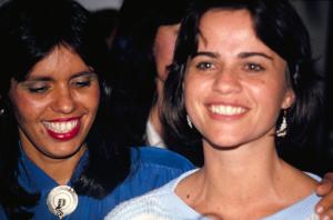 Figura 12- Dras. Maria Ceci (Fortaleza) e Rosa Helena (Belém) que fizeram a especialização conosco e aqui permaneceram para realizar os cursos de Mestrado e Doutorado antes de retornar às suas origens.