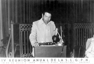 Figura 16- Participação da reunião da LASPGHAN, em seus primórdios, em Montevideo, Uruguai em 1981.