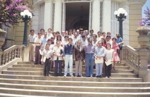 Figura 18- Participação de um Curso de Atualização em Cochabamba, Bolívia, em 1985.