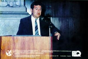 Figura 20- Participação da X Reunião da LASPGHAN, em Montevideo, em 1991.