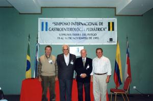 Figura 21- Eu, Jorge Ortiz (Buenos Aires), Pastoriza (Ushuaia) e Aderbal Sabrá (Rio de Janeiro).