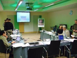 Figura 31- Membros do Grupo de Trabalho em plena atividade.