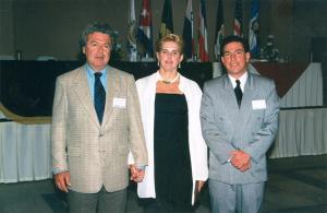 Figura 38- Eu, Fábia e Jorge Palácios um Especializando nosso da Guatemala.