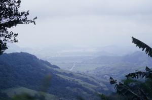 Figura 3- Vista do alto da serra do Mar na região de Angra dos Reis.