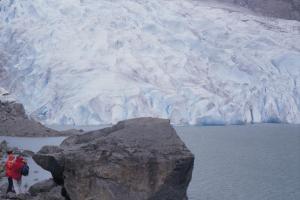 Figura 7- Nesta mesma viagem deparamos com fantásticos, enormes e perenes glaciais.
