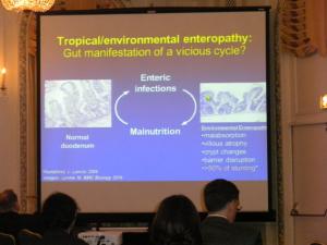 Figura 20- Foto do Slide de uma apresentação do Congresso da NASPAGHAN de 2013, aonde se reconhece meu artigo propondo a mudança da denominação da síndrome de Tropical Enteropathy para Environmental Enteropathy.