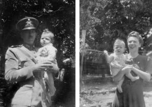 Figuras 1–2: Meu pai e minha mãe comigo no colo em Pirassununga.