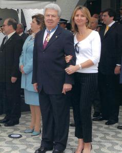 Figura 46: Luciana e eu no dia da premiação da Ordem do Mérito Aeronáutico.