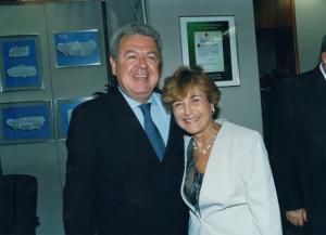 Figura 52: Lucila Carneiro Vianna amiga de longas e incansáveis jornadas que viria a ser minha Chefe de gabinete prestigiando minha posse.