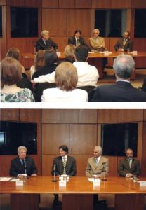Figuras 69-70: Cerimônia oficial de posse da recondução à reitoria da UNIFESP na presença do ministro da Educação9 Fernando Haddad